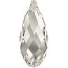 50x21.5mm Silvershade Crystal
